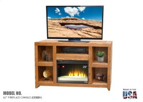 """Cityscape 62"""" TV Console with Fireplace"""