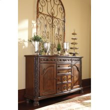Dining Room Server North Shore - Dark Brown Collection Ashley at Aztec Distribution Center Houston Texas