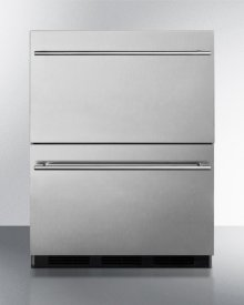 Two-drawer Commercial Outdoor All-refrigerator In Complete Stainless Steel With Automatic Defrost Operation