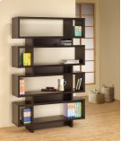 - Seven tier bookcase finished in cappuccino- Constructed with MDF, particle board, and engineered veneer- Also available in white (#800308) Product Image