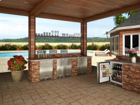 """Marvel 15"""" Outdoor Clear Ice Machine - Solid Stainless Steel Door, Right Hinge"""