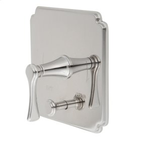 Antique Nickel Balanced Pressure Tub & Shower Diverter Plate with Handle. Less Showerhead, arm and flange.