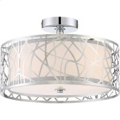 Abode Semi-Flush Mount in Polished Chrome