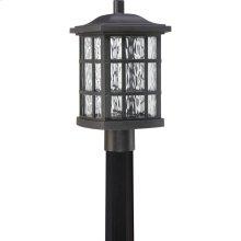 Stonington LED Outdoor Lantern in Mystic Black