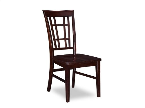 Montego Bay Dining Chairs Set of 2 with Wood Seat in Espresso