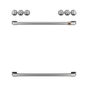 CafeFront Control Gas Knobs and Handles - Brushed Stainless