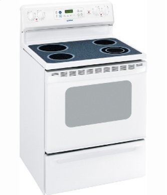 "MCB787DRWW - White on White Moffat 30"" Free Standing Electric Self Clean Range"