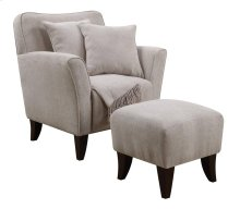 Cozy Accent Chair with Ottoman, Pillows and Throw