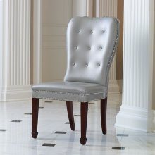 Charleston Chair-Grey with Walnut Finish Legs
