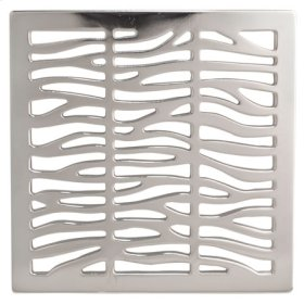 "Satin Brass - PVD 4"" Square Shower Drain"