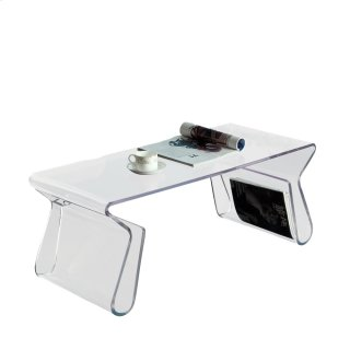 Magazine Acrylic Coffee Table in Clear