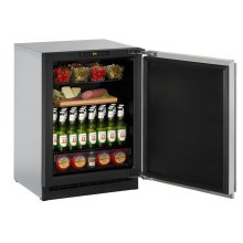 """2000 Series 24"""" Solid Door Refrigerator With Stainless Solid Finish and Field Reversible Door Swing (115 Volts / 60 Hz)"""