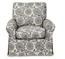 Sunset Trading Horizon Slipcovered Swivel Chair in Contemporary Floral