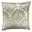 Gisela Contemporary Decorative Feather and Down Throw Pillow In Jade Jacquard Fabric Product Image