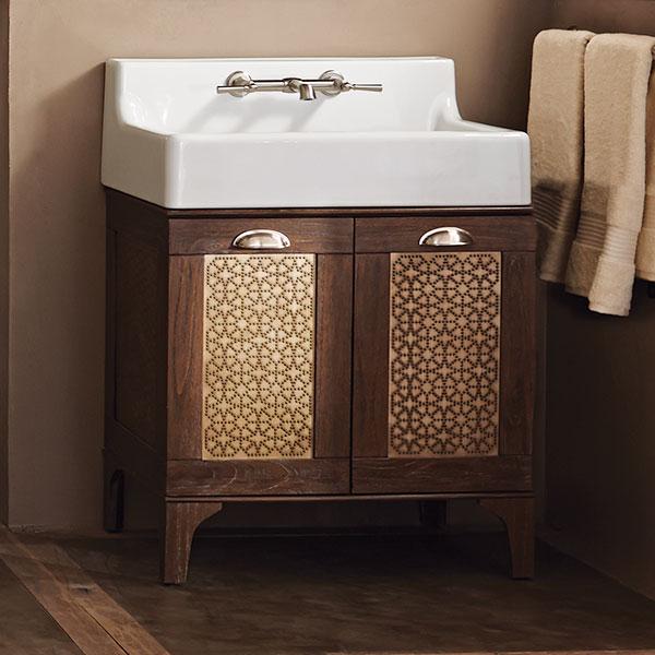 Hidden · Additional Oak Hill Bathroom Vanity With Sink   Canvas White / Weathered  Oak