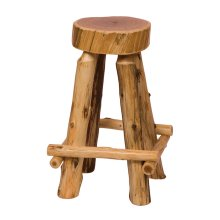 "Slab Counter Stool - 24"" high - Natural Cedar - Wood Seat"