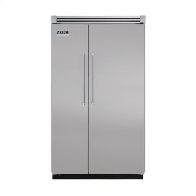 "Metallic Silver 48"" Quiet Cool™ Side-by-Side Refrigerator/Freezer - VISB Tru-Flush™ (48"" wide)"