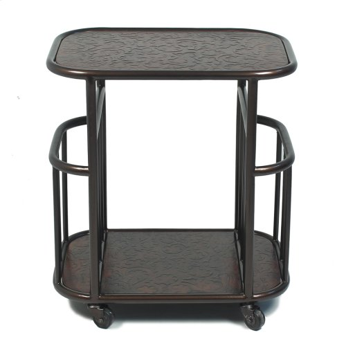Mobile Magazine Side Table