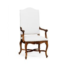 French Baronial Style Country Armchair, Upholstered in COM