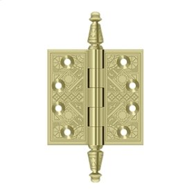 """3 1/2""""x 3 1/2"""" Square Hinges - Polished Brass"""