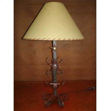 Metal Lamp With Longhorn