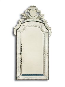 Wheel Engraved and Cut Venetian Mirror with Beveled Mirror Glass