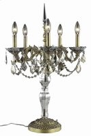 9605 Monarch Collection Hanging Fixture Pewter Finish (Swarovski Strass/Elements Golden Teak Crystals) Product Image