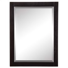 Briana Rectangular Mirror - Black Ash