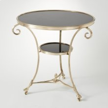 Gueridon Table-Brass/Black Granite