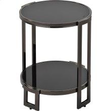 Bogdon Accent Table in Black Nickel