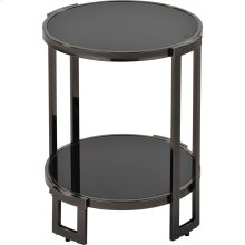 Bogdon Accent Table in Black Nickel