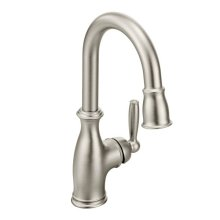 Brantford spot resist stainless one-handle pulldown bar faucet