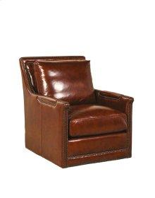 Prescott Swivel Chair - Brooklyn Saddle