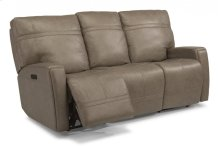 Talbert Leather Power Reclining Sofa with Power Headrests