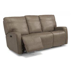 Flexsteel Talbert Leather Reclining Sofa With Headrests