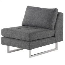 Janis Sofa Extension  Dark Grey Tweed