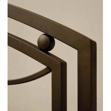 Arlington Headboard In Bronze Metal (bed Frame Not Included) - King