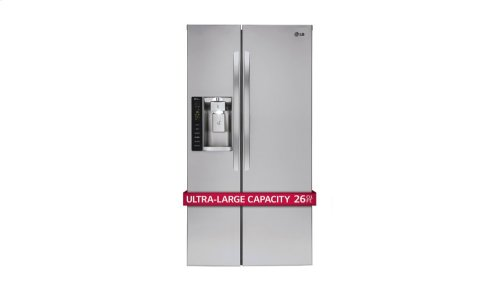 26 cu. ft. Ultra Capacity Side-by-Side Refrigerator with Ice & Water Dispenser