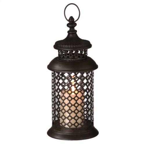 Small Ornate Geometric Pillar Lantern