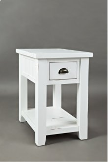 Artisan's Craft Chairside Table - Weathered White