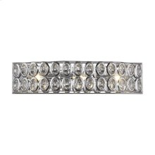 Tessa 3 Light Vanity in Polished Chrome with Clear Crystal