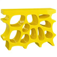 Wander Small Fiberglass Stand in Yellow