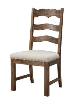 Side Chair Slat Back Upholstered Seat Set Up Product Image