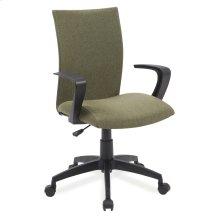 Green Linen Apostrophe Office Chair #10115GN