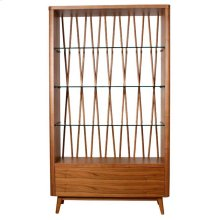 Milano Display Case, Walnut