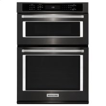 """27"""" Combination Wall Oven with Even-Heat True Convection (lower oven) - Black Stainless Steel with PrintShield™ Finish"""