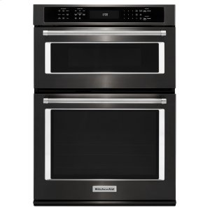 "Kitchenaid27"" Combination Wall Oven with Even-Heat True Convection (lower oven) - Black Stainless"