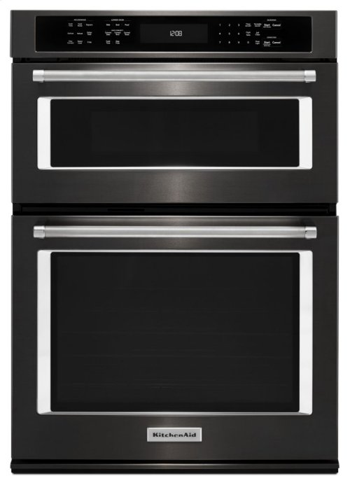 """27"""" Combination Wall Oven with Even-Heat True Convection (lower oven) - Black Stainless"""