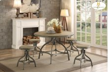 Round Dining Table, Adjustable Height