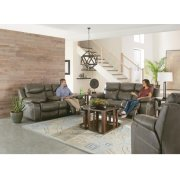 Pwr Headrest Lay Flat Recl Cnsl Loveseat w/Stg & Cupholders Product Image